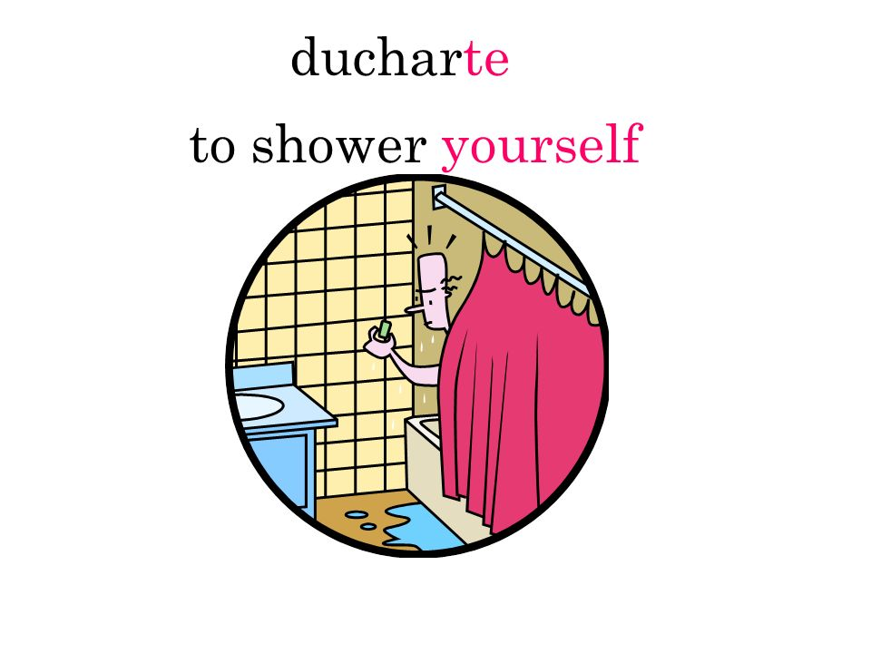 ducharte to shower yourself
