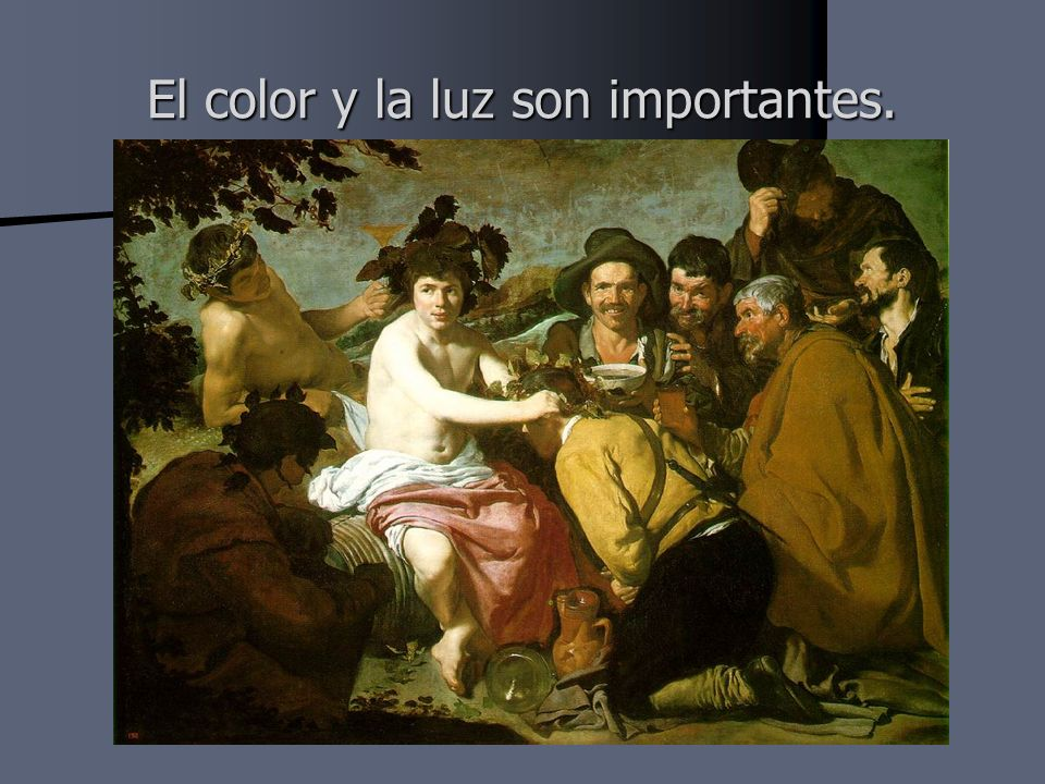 El color y la luz son importantes.