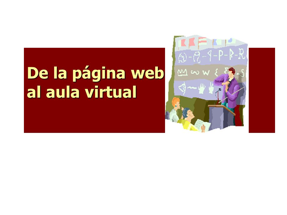 De la página web al aula virtual