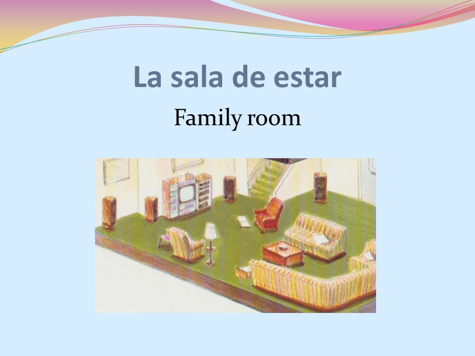 La sala de estar Family room