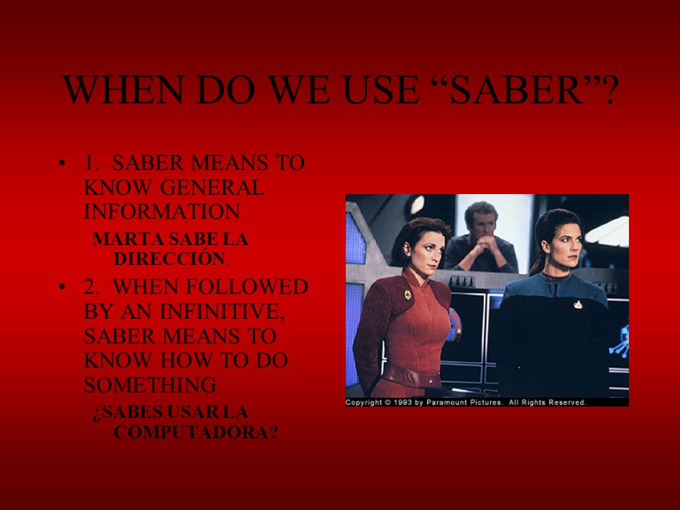 ENGAGE. CONJUGATE THESE VERBS QUICKLY OR YOU WILL BE ASSIMILATED BY THE BORG.