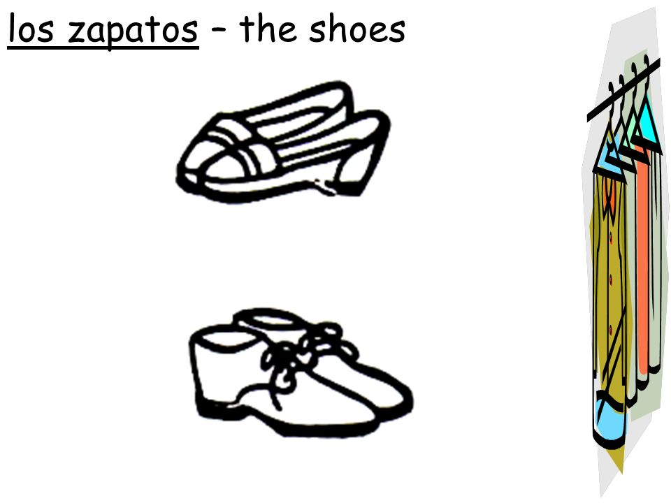 los zapatos – the shoes