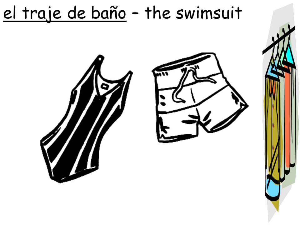 el traje de baño – the swimsuit