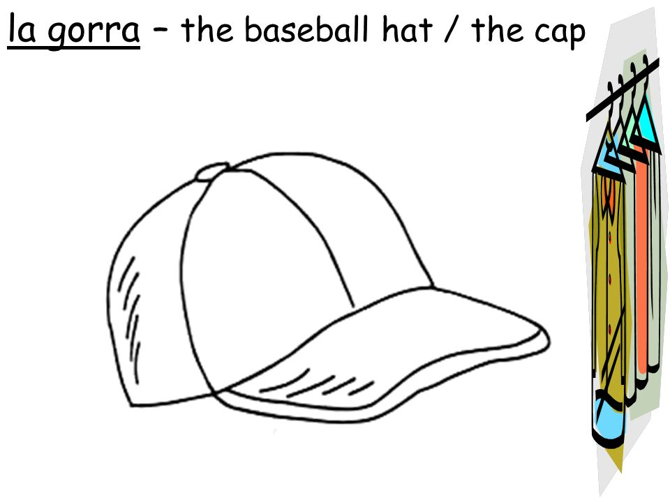 la gorra – the baseball hat / the cap