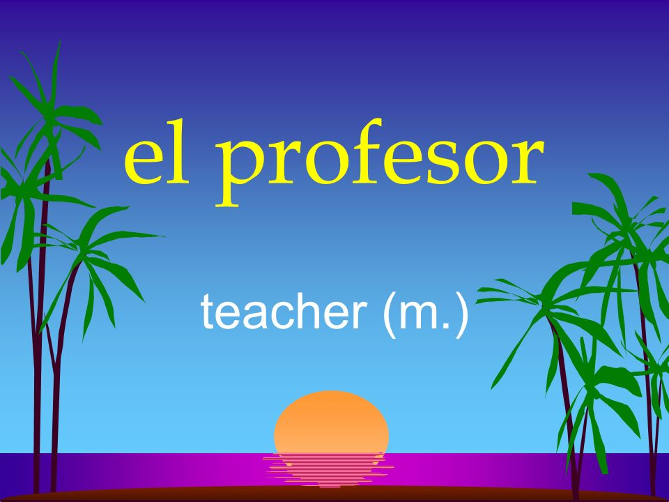 la profesora teacher (f.)