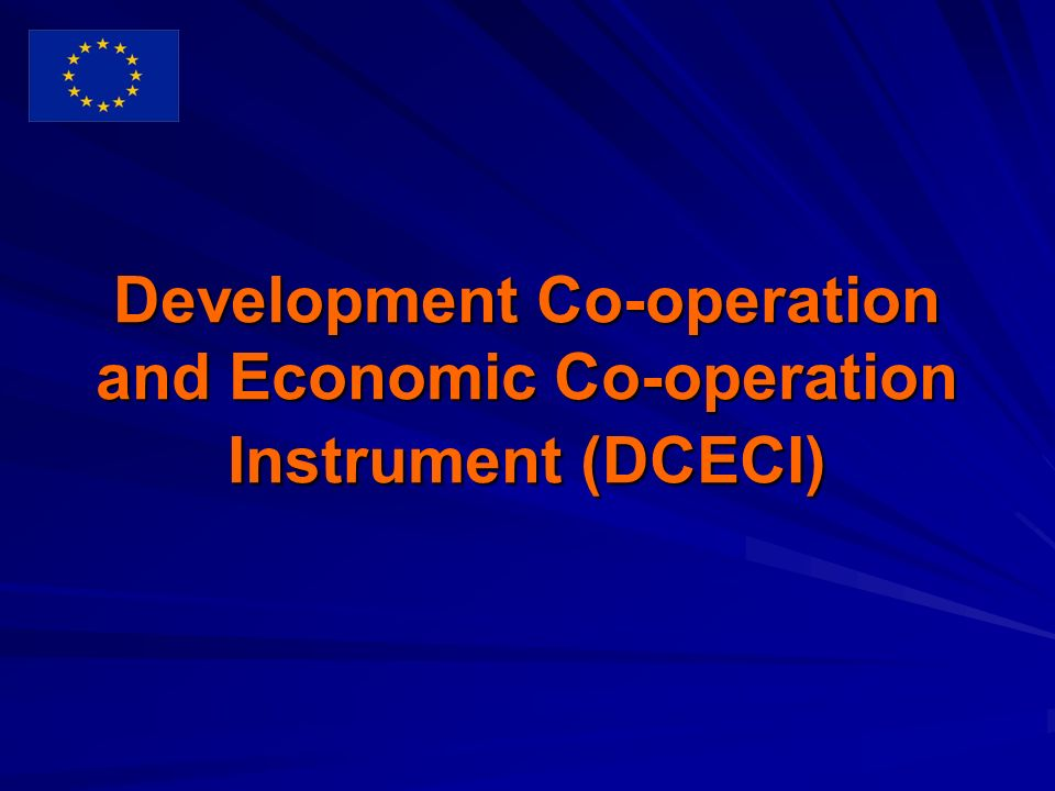 Development Co-operation and Economic Co-operation Instrument (DCECI)