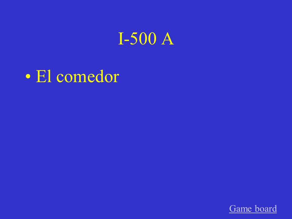 I-400 A El edificio Game board