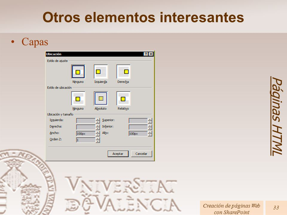 CREACIÓN DE PÁGINAS WEB CON SHAREPOINT DESIGNER 2007 (Sesión 5 ...