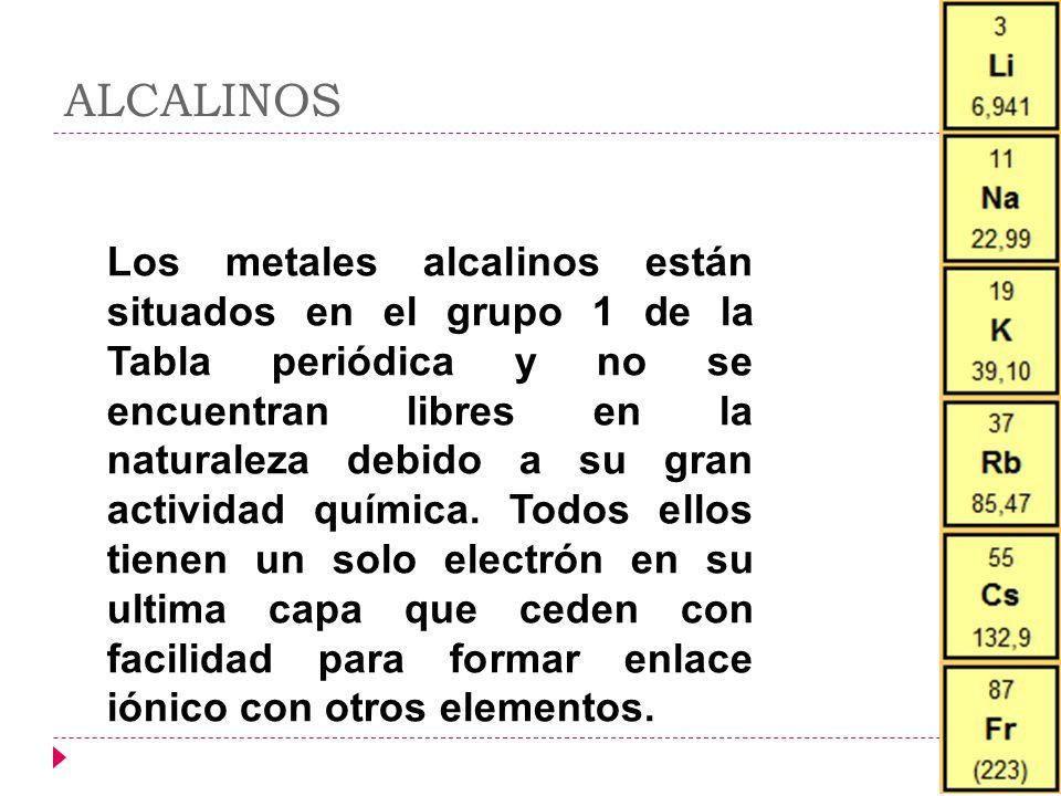 Tabla peridica ixzuli cortes la tabla peridica de los alcalinos los metales alcalinos estn situados en el grupo 1 de la tabla peridica y no urtaz Choice Image