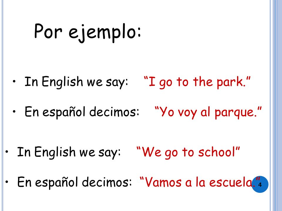 3 El Verbo IR IR is the infinitive There isn't a root/stem) It means to go