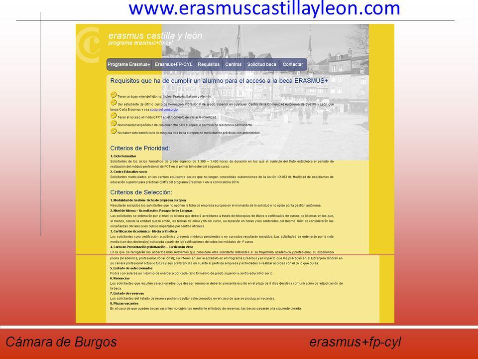 Cámara De Burgos Erasmus Fp Cyl Burgos 14 De Septiembre De