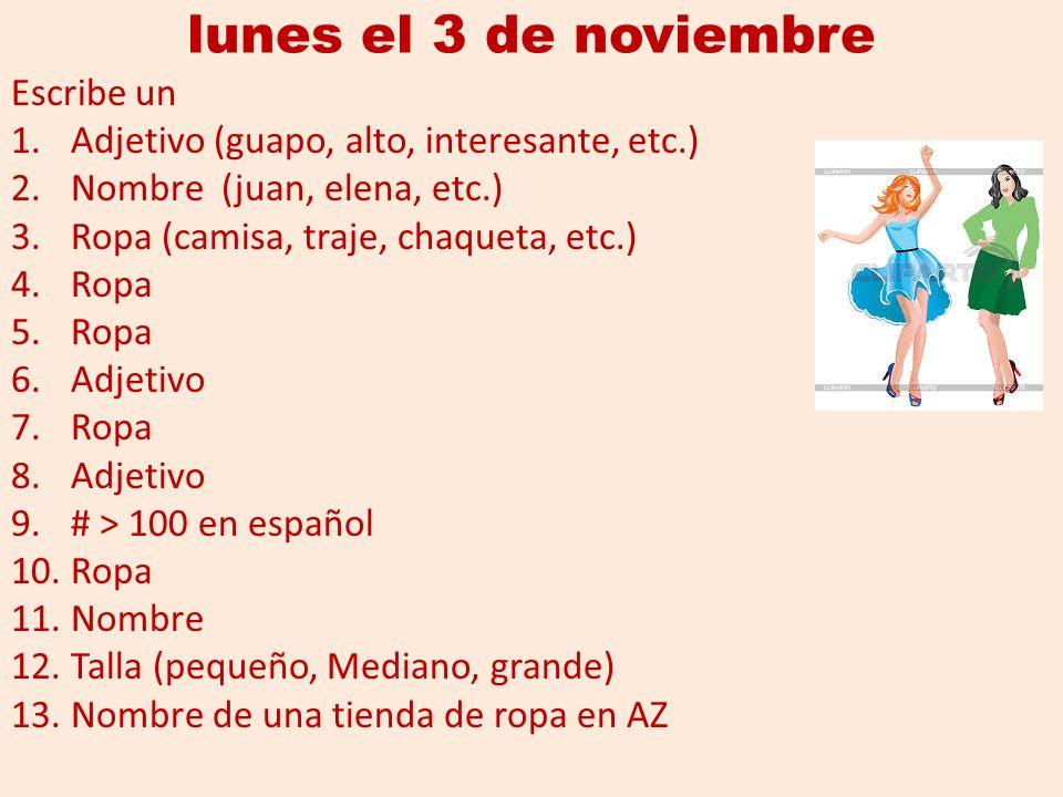 hay Muchachas El En Escribe Inglés Noviembre Lunes Unas 1 De 3 ZwqTUUSB