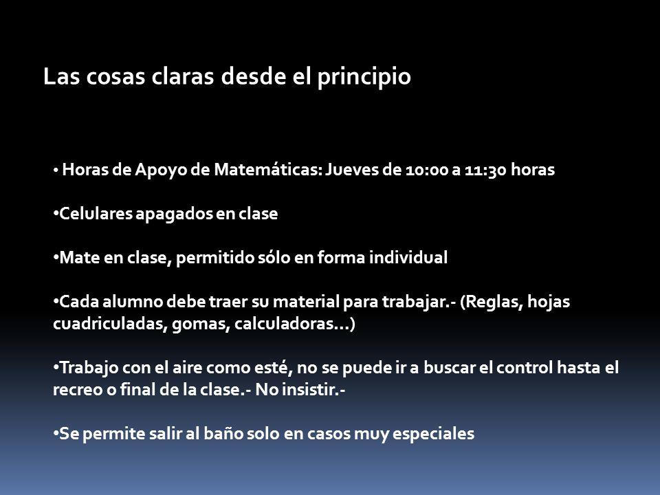 Planificando el año 2013 Horarios de clase. Programa por bloques ...