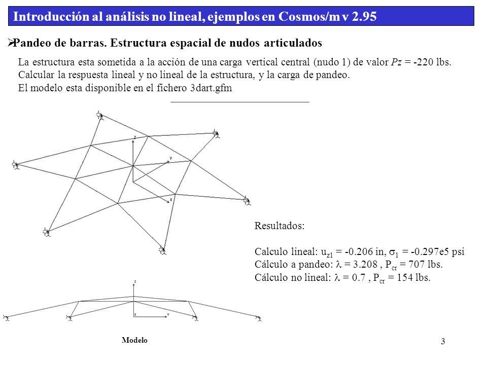 1 Introducción Al Análisis No Lineal Ejemplos En Cosmos M V