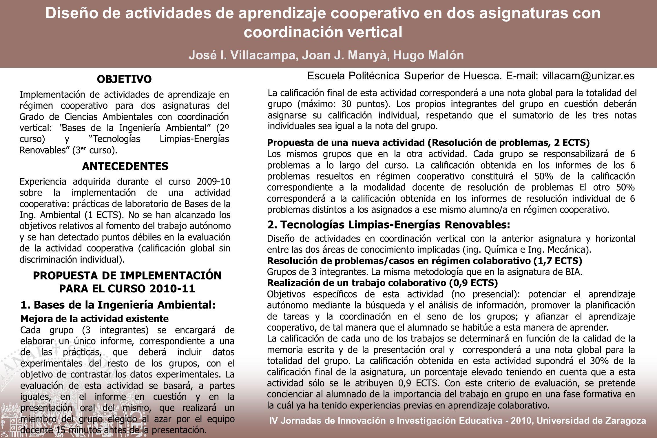 IV Jornadas de Innovación e Investigación Educativa , Universidad de ...