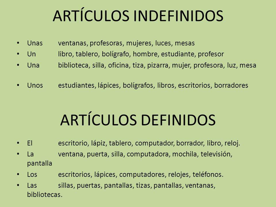 EL GÉNERO - _____ LIBRO - _____ BOLÍGRAFO - _____ PROFESORA - _____ ...