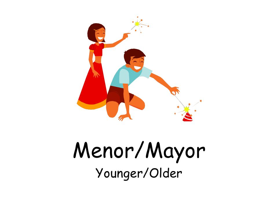 Menor/Mayor Younger/Older