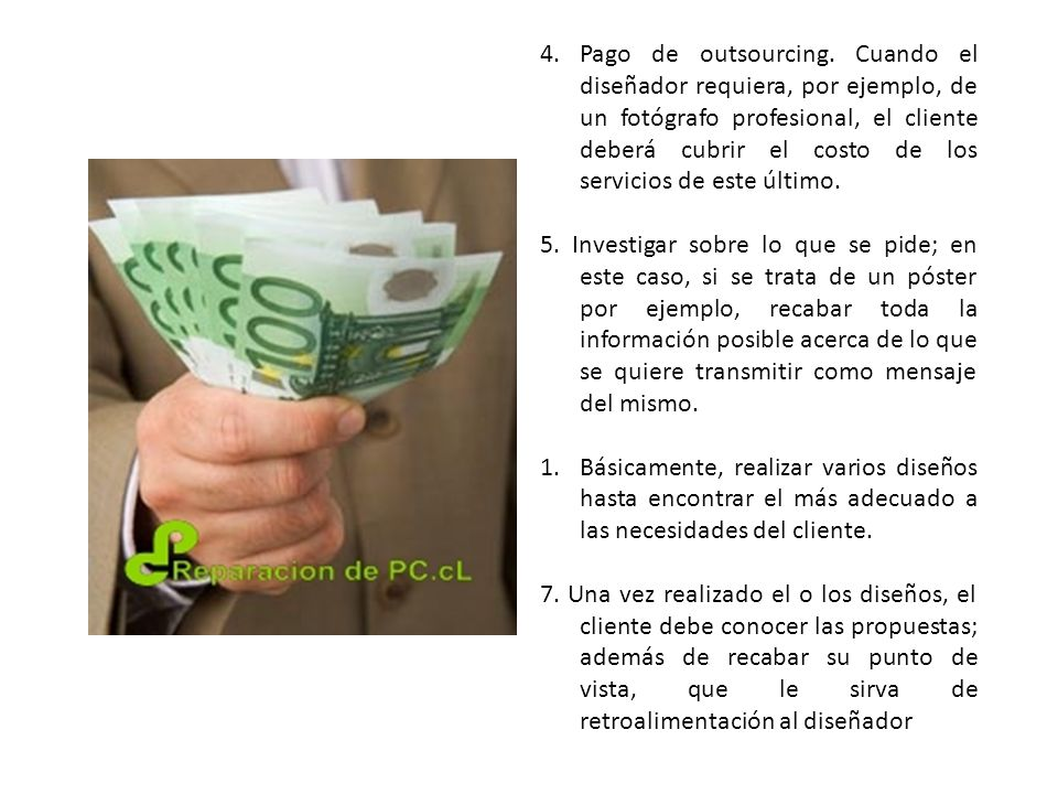 4. Pago de outsourcing.