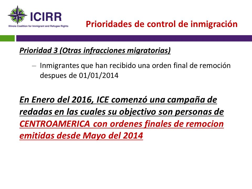 Illinois Coalition for Immigrant and Refugee Rights CONOCE TUS ...