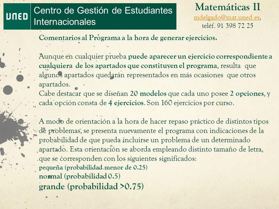 Prueba de aptitud para el Acceso a la Universidad (PAU). Matemáticas ...