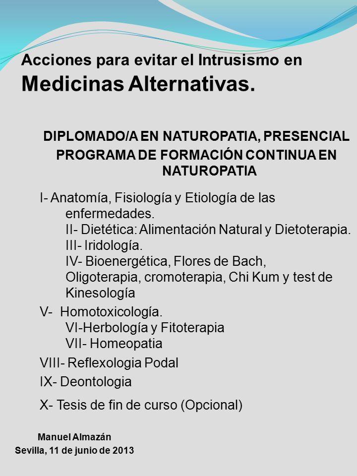 """Manuel Almazán """"III Jornadas MUJER Y SALUD"""" Medicinas Alternativas ..."""
