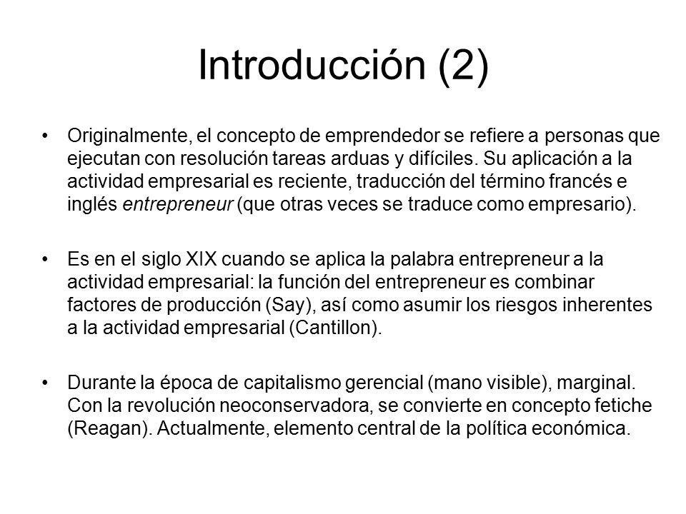 Concepto de emprendimiento según schumpeter