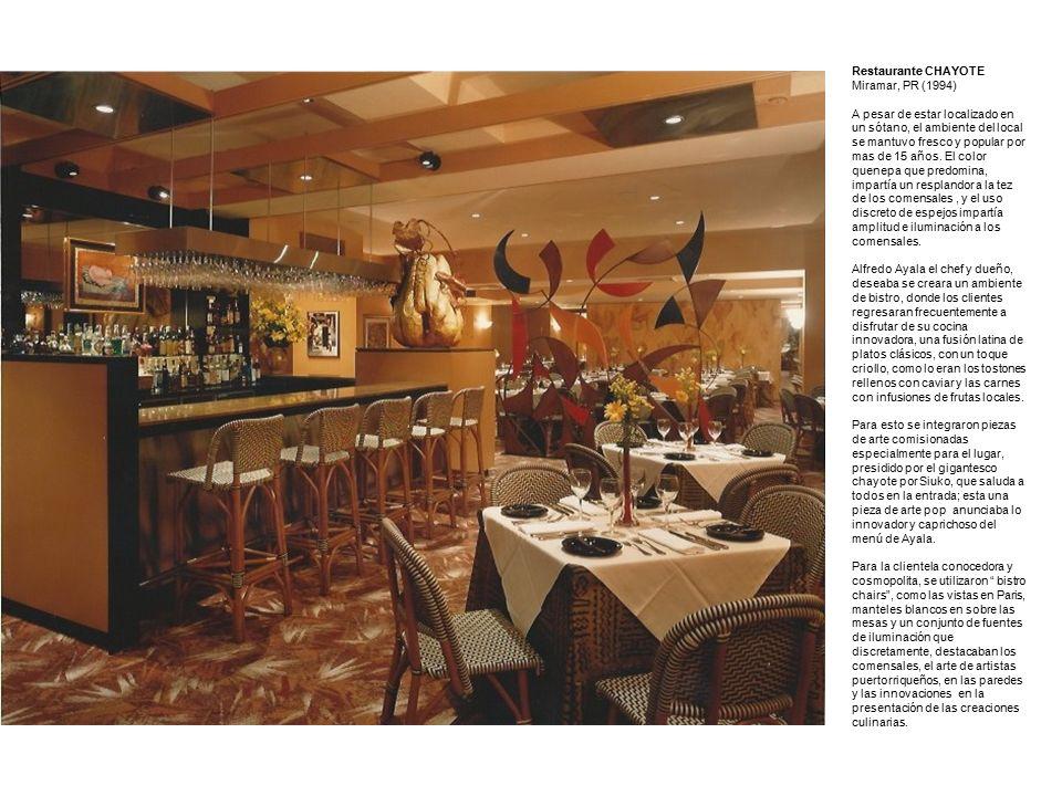 Muestras de Interiores Arquitecto Jaime Cobas. Restaurante CHAYOTE ...