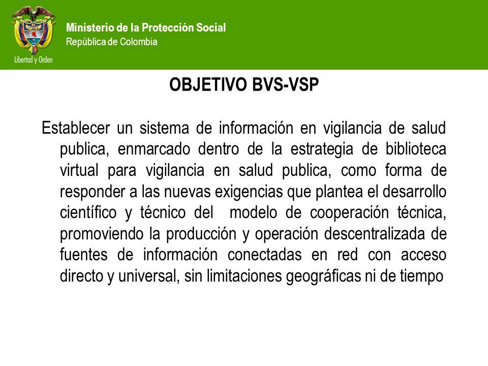 Ministerio de la Protección Social República de Colombia. - ppt ...