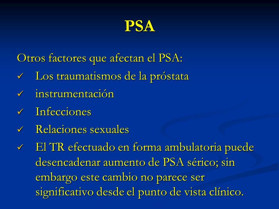 aumento de PSA sin próstata