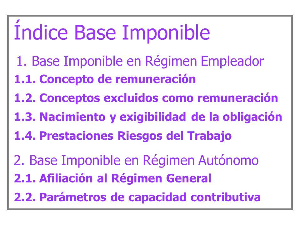 Régimen Tributario de la Seguridad Social Base Imponible y ...