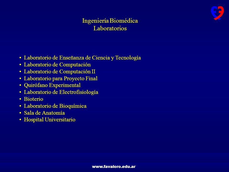 UNIVERSIDAD FAVALORO EDUCACIÓN EN INGENIERÍA BIOMÉDICA Ing. Eduardo ...