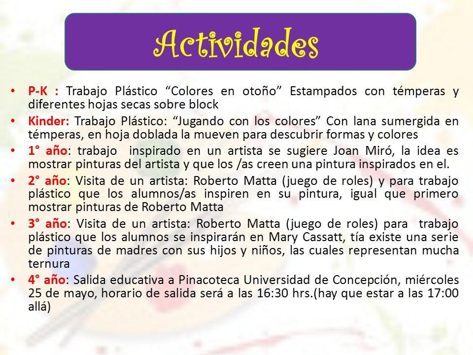 Semana de la Educación Artística Colegio Santa Teresita 23 al 27 de ...