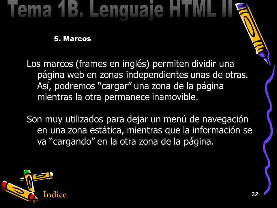 1 Tema 1B Lenguaje HTML II. Indice 2 1.ListasListas 2.TablasTablas 3 ...