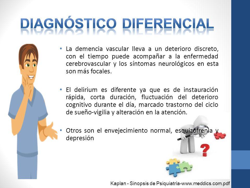 Demência cerebrovascular de sintomas