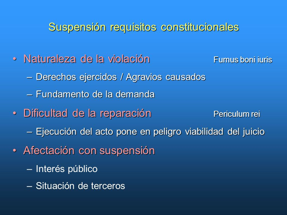 Incidente de suspensin juicio de amparo indirecto ppt descargar 7 suspensin requisitos constitucionales ccuart Image collections