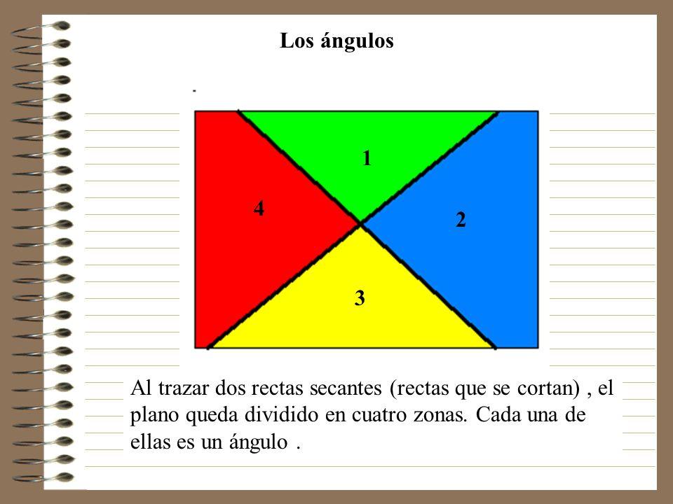 Los ángulos Al trazar dos rectas secantes (rectas que se
