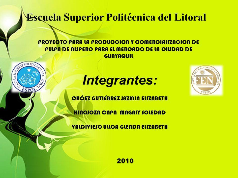 PROYECTO PARA LA PRODUCCION Y COMERCIALIZACION DE PULPA DE NISPERO ...