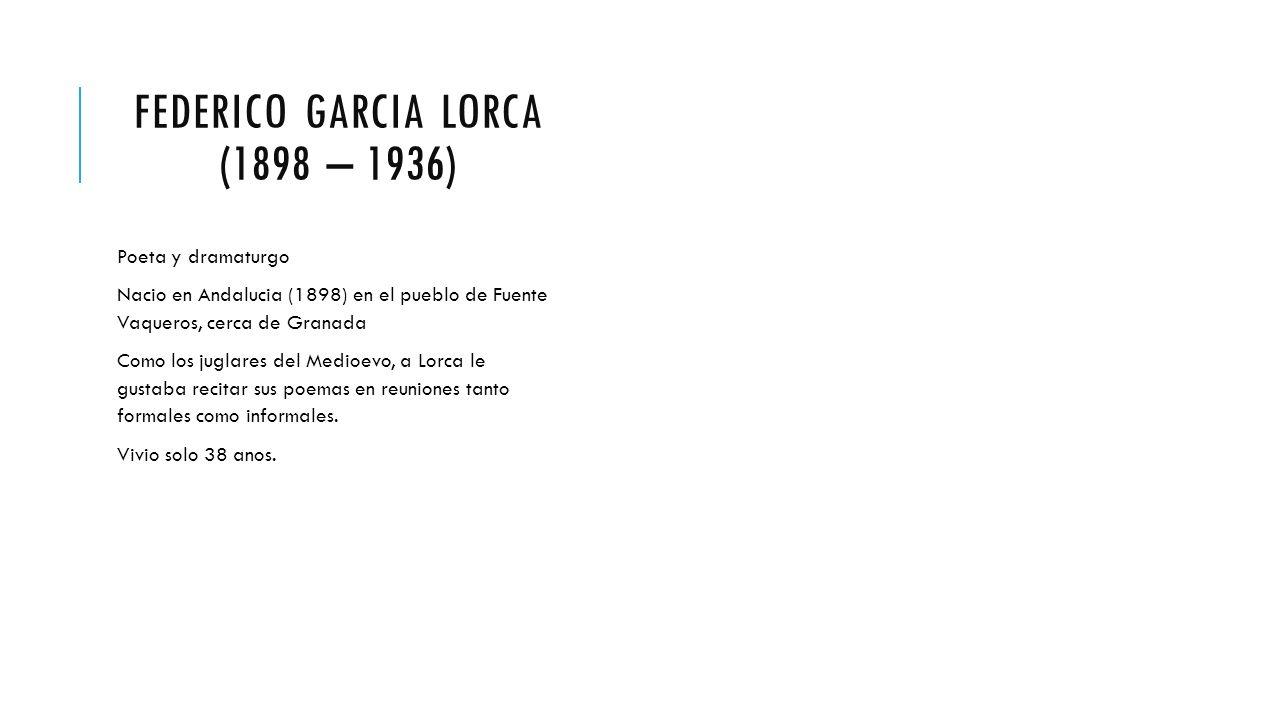 El Romance Medioevo Y De Federico Garcia Lorca Romance