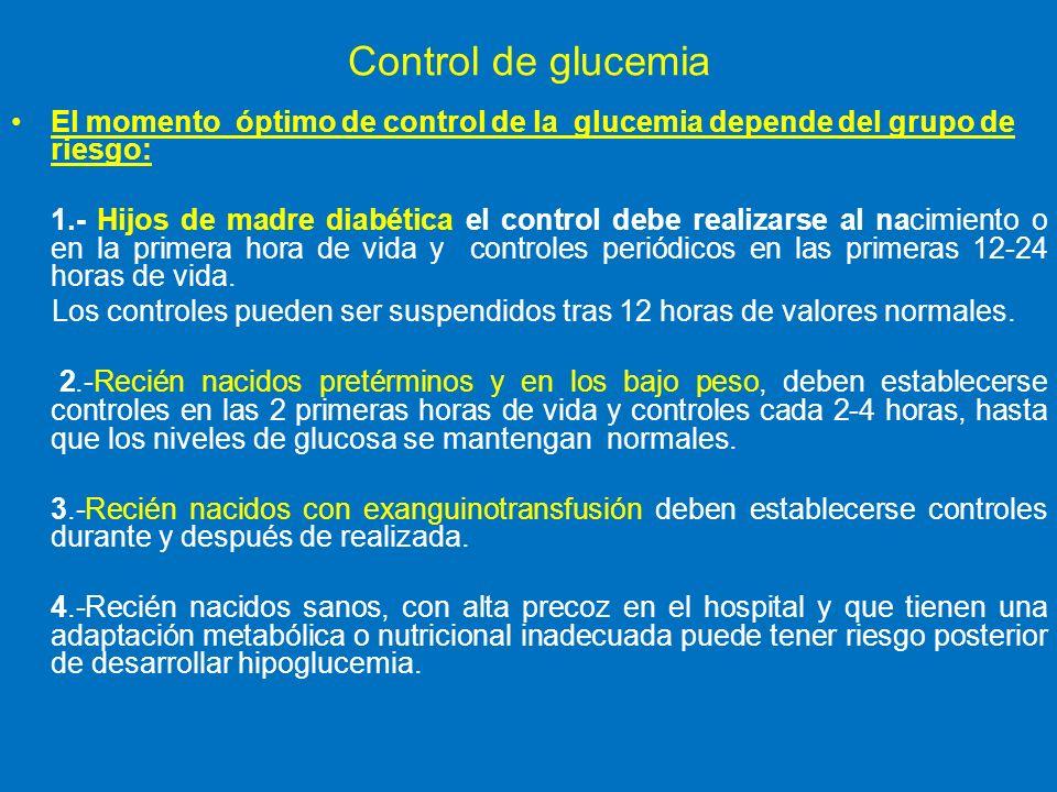 Neonatos normales en Glucometria valores