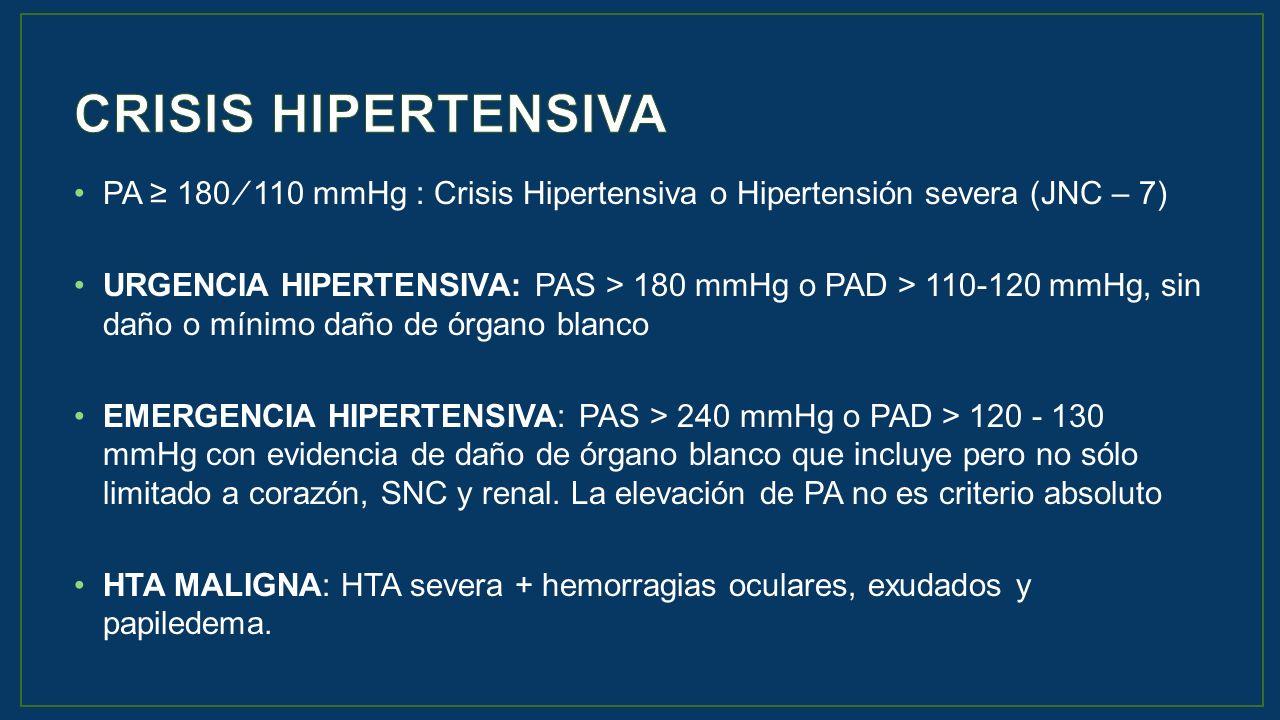 Es el papiledema de emergencia hipertensiva versus urgencia