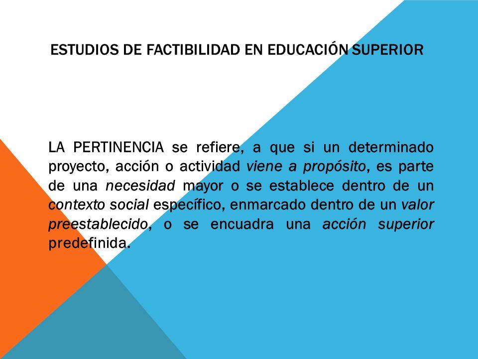 ESTUDIOS DE FACTIBILIDAD EN EDUCACIÓN SUPERIOR SICYT JULIO DE ppt ...
