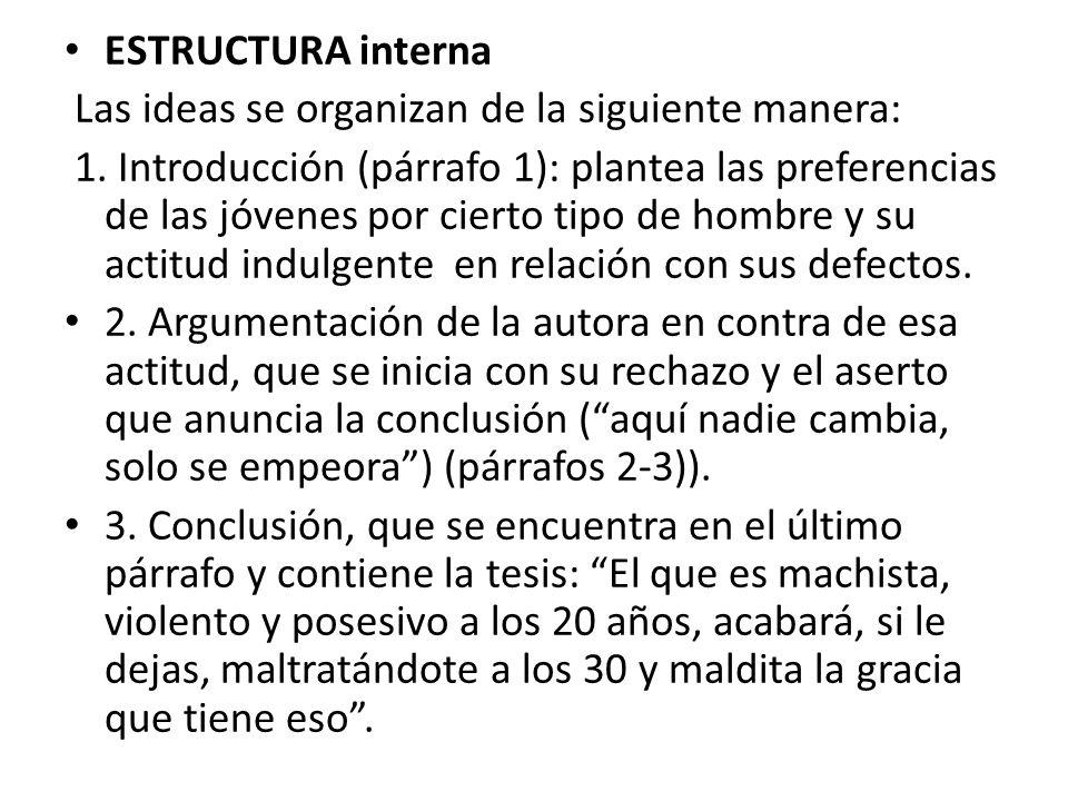 Defectillos Isabel Vicente Estructura Externa El Texto