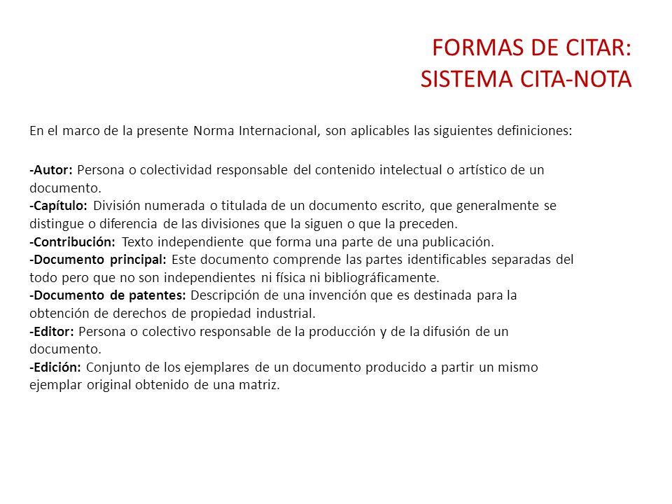 CITAS DE CONTENIDO TEXTUAL Y NOTAS A PIE DE PÁGINA. - ppt descargar