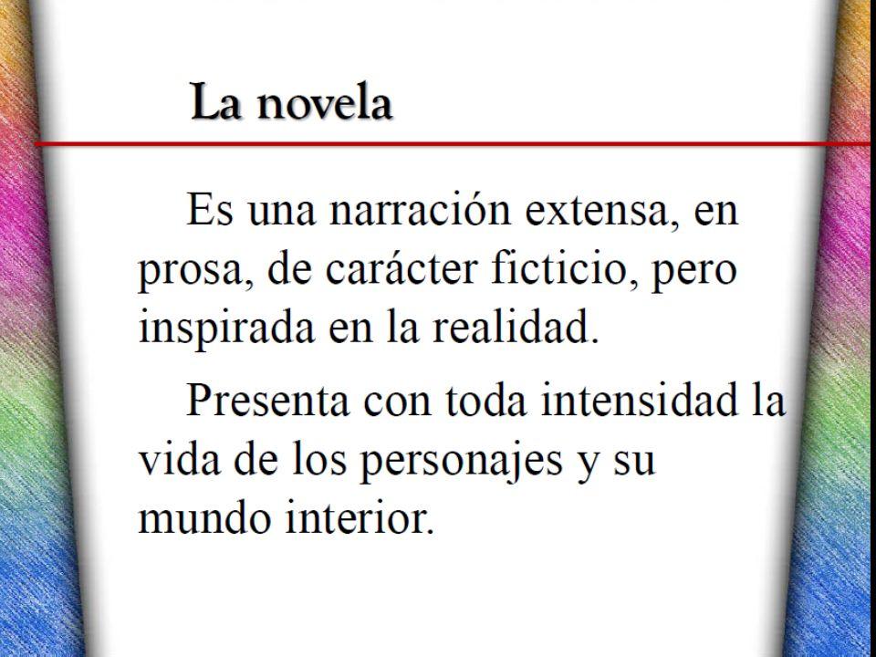 La Novela Objetivo Identificar La Estructura De La Novela