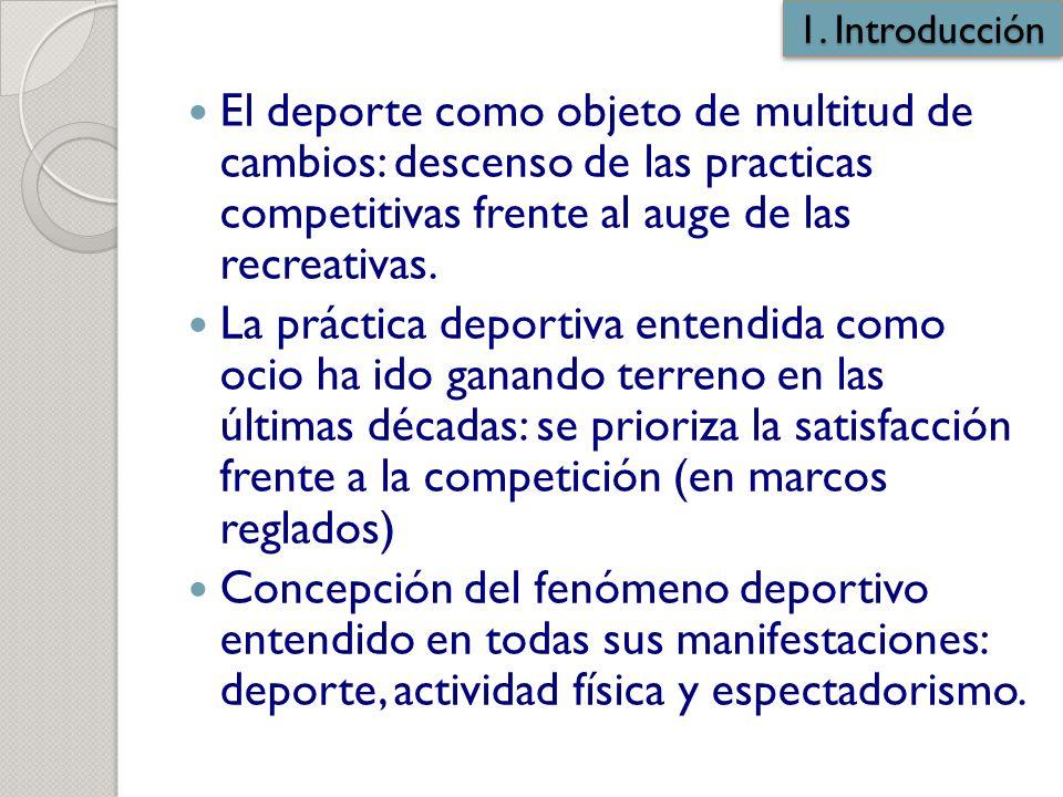 Los cambios en los hábitos deportivos de la población. Diferencias ...