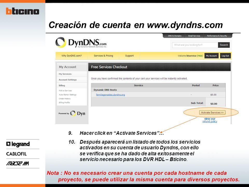 Acceso Remoto DVR HDL serie HM Procedimiento con DynDns