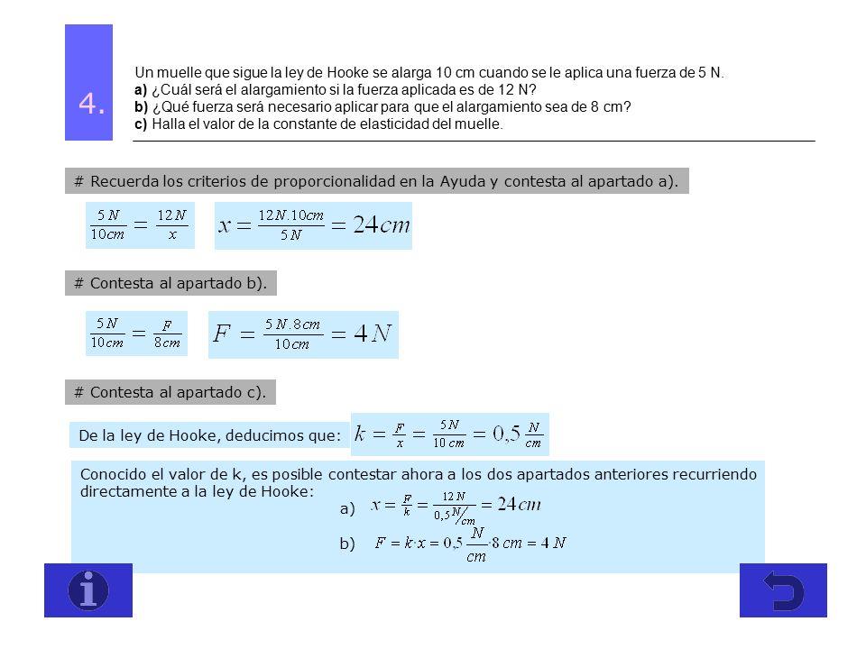 Ejercicios de alargamiento en fisica