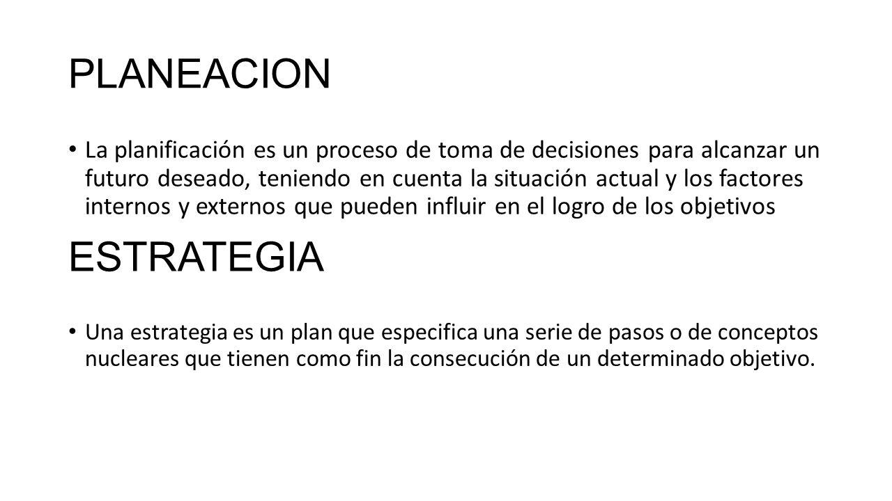 PLANEAMIENTO ESTRATEGICO DE TIC. PLANEACION La planificación es un ...