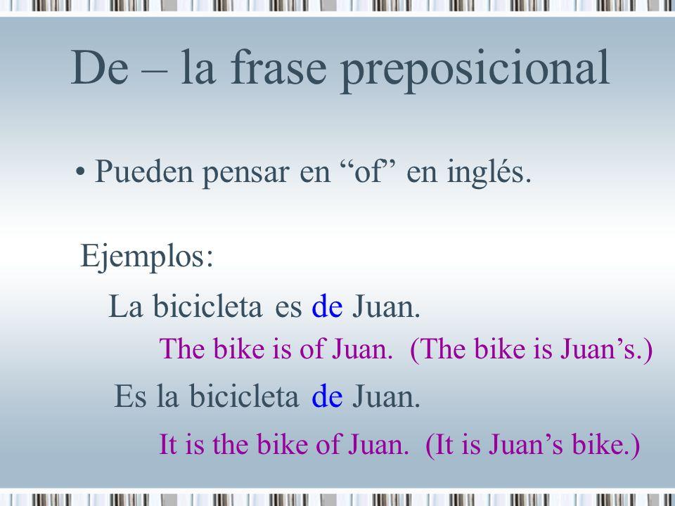 La Posesión Hay Dos Maneras De Indicar Posesión En Español
