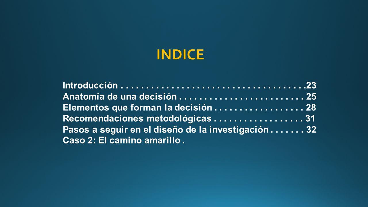 Formulacion del problema. Introducción Anatomía de una decisión ...